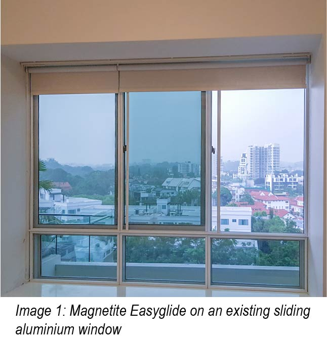 magnetite singapore easyglide on aluminium window